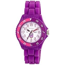 Tikkers Children's Purple Owl Silicone Kids Time Teacher/Tutor watch - NTK0003