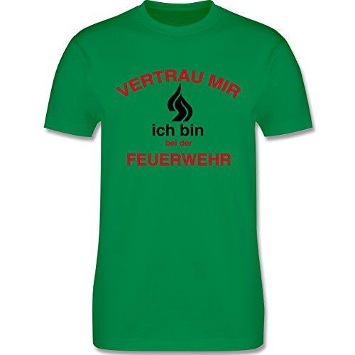 Feuerwehr - Vetrau mir ich bin bei der Feuerwehr - Herren Premium T-Shirt Grün