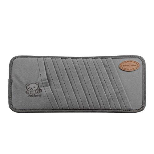 Preisvergleich Produktbild Auto Innenraum grauer Bär Muster 8 Fächer Sonnenblende CD visor Tasche Koffer