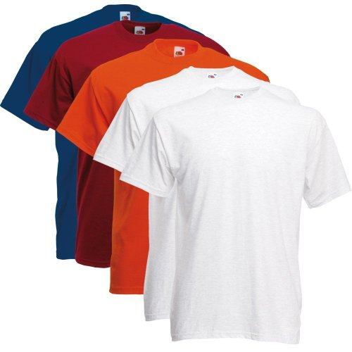 Fruit of the Loom T-Shirts 5er Pack - Original T - Full Cut - Farbset2