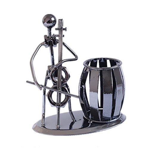 (DZXM Stifthalter Metall Pen Pot Persönlichkeit Stift Box Musik Iron Man Modellierung Literarische Dekoration,B)