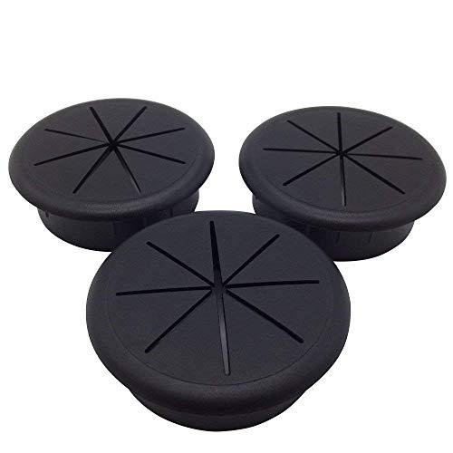 ANZESER 3 Stück Kunststoff Flexibel Kabeldurchführung 60 mm schwarz -