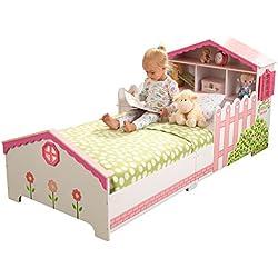 KidKraft 76255 Lit enfant en bois Maison de Poupée, chambre enfant, meuble