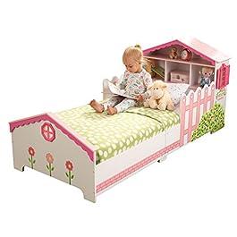 KidKraft 76255 Lettino Stile Casa delle Bambole con Giroletto in Legno, Mobili per Camera da Letto per Bambini