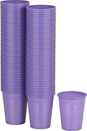 Kigima Einweg Trinkbecher Kunststoff lila, 100 Stk, 0,18 Liter (Bunte Krug)