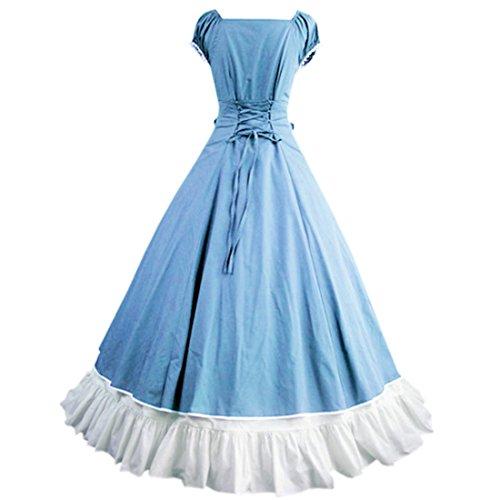 Partiss - Robe - Plissée - Femme bleu ciel