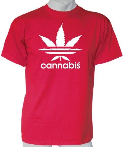 Cannabis Sport T-shirt Rot