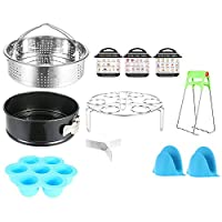 Accessories for Instant Pot, Electric Pressure Cooker Accessories Set with Stainless Steel Steamer Basket, Egg Steamer Rack, Egg Bites Molds, Silicone Anti-Scald Gloves for 6qt 8qt Pot