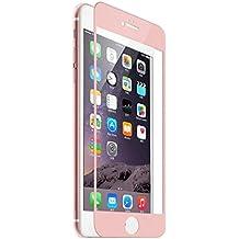 "Protector de Pantalla iPhone 6/6s Plus Cobertura Completa,SKYEARMAN 0.26mm 3D-Curve 9H Vidrio Templado Anti-reflejo Anti-rayado Screen Protector para Apple 6Plus,5.5"",Oro-Rosa"