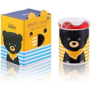 Mug/ Becher/ Tasse mit Bär Motiv aus Keramik Porzellan. Milch, Fenchel Tee oder Wasser, für alles geeignet. Mit Geschenk Verpackung.