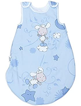 Happy Lambs (Lämmer Blau) Pati'Chou baby Baumwolle Schlafsack 2.5 tog