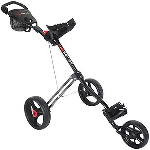 Masters 5 Series - Carrito de golf con 3 ruedas, color negro