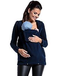 Zeta Ville - Maternité pull molletonné panneau amovible polaire - femme - 498c