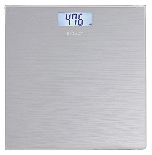 Exzact  Bathroom Scale / Peronal Scale/ Digital Weighing Scale - Large Capacity 180kg / 400lb /28st - High Precision, Step-on, Backlight LCD Display, High Quality Tempered Glass Platform, Slim and Smar
