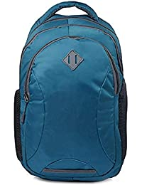 XSpeed Women and Men's 18 Inch Polyester Laptop Backpack with Rain Cover (Blue)