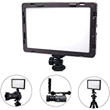 "Mcoplus Air-1000B 0.98""/2.5cm Ultra Thin CRI 95 14W 5600K/3200K LED Video Light Dimmable Flat Panel On-camera Light Pad for Canon Nikon Pentax Olympus Samsung Panasonic JVC DSLR Cameras DV Camcorders"