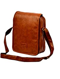 """10"""" Stylish Faux Leather I-Pad Sleeve Messenger Office Sling Bag With Shoulder Strap By-Widnes"""