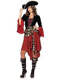 Leg Avenue Déguisement Femme Capitaine Pirate Noir/Bordeaux Taille L