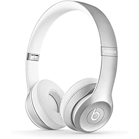 Beats Solo 2 Wireless - Auriculares de diadema abiertos, color plata