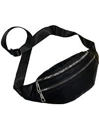 VJGOAL Damen Bauchtasche, Damen Mode Bling Pailletten Zip Party Strand Schulter Messenger Cross Chest Bag Clutch