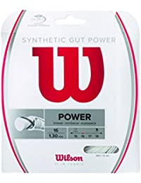 Wilson Synthetic Gut Power 40-Feet Tennis String Set, White, 16