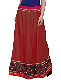 Vastraa Fusion Ethnic Long Skirt With Multi-colour Embroidered Matching Border - Available In Various Colors