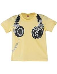 Koly El muchacho ocasional embroma tapas de la manga del cortocircuito de la impresión del auricular del verano