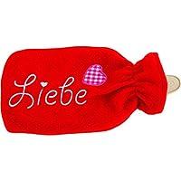 MT 409980 Wärmflasche mit rotem Fliesbezug Liebe 13x23cm preisvergleich bei billige-tabletten.eu