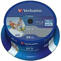 Verbatim 43811 25 GB 6 x BD-R SL Datalife Tintenstrahldrucker - 25 Pack Spindel