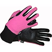 Ryda Childrens Winter Fleece Backed Leather Horse Riding Gloves for Children age 4-10yrs
