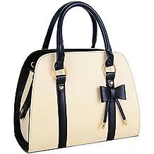 Coofit Vintage Handtasche fuer Damen PU Leder Hobo Handbag
