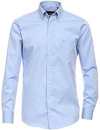 Casa Moda Langarm Hemd hellblau 100% Baumwolle Button-Down Kragen