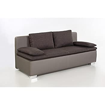 Job Duett Braungrau Schlafsofa Sofa 2 Sitzer Bettsofa Couch Mit