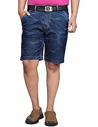4ca7fcfab2 American Noti Navy Blue Denim Shorts Men   Jeans Shorts for Man Stretchable    Denim Half