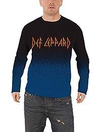 Def Leppard Jumper Sweater classic band Logo nouveau officiel Homme Dip Dye