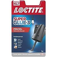 Loctite Super Glue-3 Pincel, pegamento transparente con pincel aplicador, adhesivo universal de triple resistencia, con fuerza instantánea y de fácil uso, 1x5 g