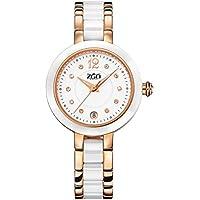 JIA&YOU Caldi bianchi ceramica orologio da polso elegante fashion trend-americano calendario luminoso impermeabile orologi da donna , gold