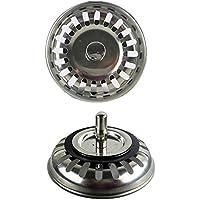 2 Pièce Filtre à évier en acier inoxydable, parfait pour évier de cuisinelarge Diamètre 79.3mm