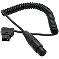 eonvic cables-coiled D-Tap 2Pin maschio a XLR femmina 4 pin cavo