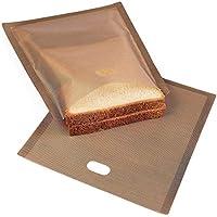 "Bolsas tostadoras 6.7 ""x 7.5"" antiadherentes Toastabags reutilizables resistentes al calor, ideales para sándwiches de queso a la parrilla Repostería de pizza, paquete de 6"