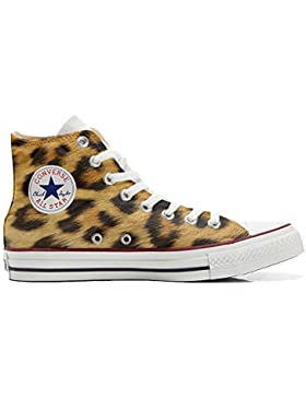 Converse All Star Customized Unisex - Zapatos Personalizados (Producto Artesano) Leopardo