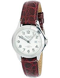 caa8f2ae6824 Select 98610-a Reloj Analogico para Mujer Caja De Acero Inoxidable Esfera  Color Blanco