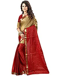 Shree Sanskruti Cotton Saree with Blouse Piece (DJ Chikku Marooon_Beige and Maroon_FS)