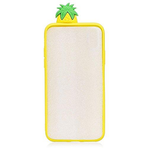 iPhone 5S / SE Hülle, BENKER Hochwertigem Neu Kreativ 3D Karikatur Durable TPU Silikon Kratzfeste Stoßfest Rutschfeste Handyhülle - Kaktus Ananas