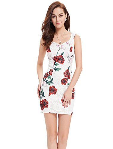 Ever-Pretty ap05303wh12–Robe pour femme Blanc
