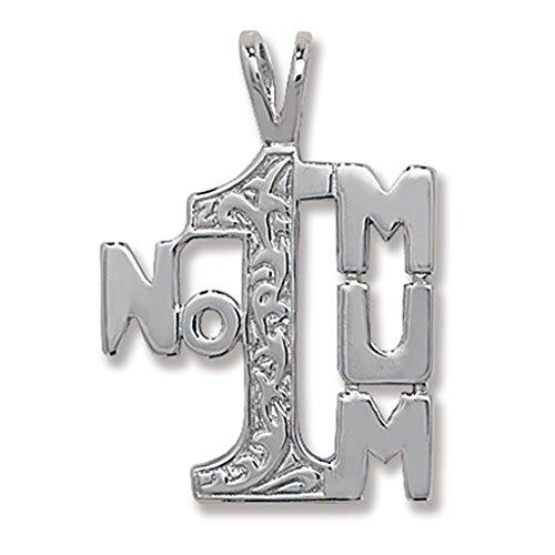 In argento Sterling 925a forma di numero 1mamma Ciondolo su una collana serpente, argento, colore: Silver, cod. 2226-W30