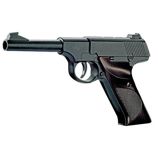 Nick and Ben Softair-Pistole Vollmetall Federdruck P 08 Spielzeug-Waffe max. 0,5 Joule im Set mit 6 mm BB Airsoft Munition
