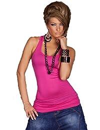Bt-Style Damen Long Tank Top mit Rundhals Basic Look, mehrere Farben