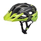 KED STATO JUNIOR 2016 bambino e dell'adolescente casco della bicicletta, Taglia:52-58 cm;Colore:green black matt