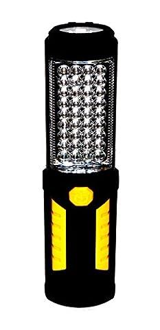 36 + 5 LED Taschenlampe Arbeitsleuchte Arbeitslampe Werkstattlampe Lampe Stablampe Schwarz - Gelb